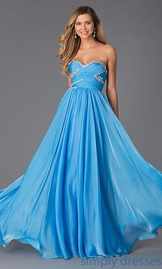 Strapless Sweetheart Floor Length Dress at SimplyDresses.com