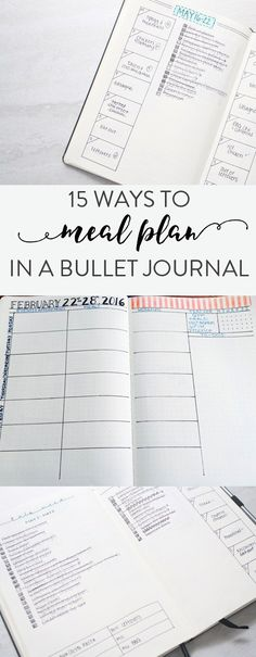 15 ways to do meal planning in your bullet journal