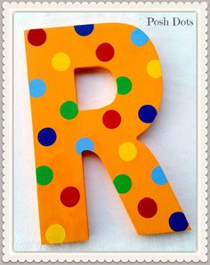 Polka Dot Custom Painted Decorative Wooden Wall Letter by Posh Dots by PoshDots on Etsy https://www.etsy.com/listing/252286034/polka-dot-custom-painted-decorative
