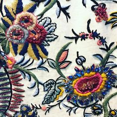 Our Gabriella embroidery for #toryburchprefall17....#moodboard #milan #india