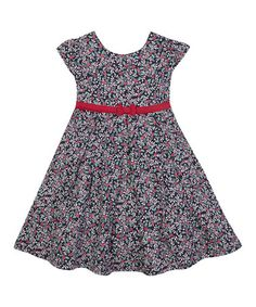 Look at this JoJo Maman Bébé Navy Holly Party Dress - Toddler Toddler Girl Dresses, Baby & Toddler Clothing, Girls Dresses, Summer Dresses, Toddler Girls, Infant Toddler, Cute Little Girls Outfits, Dress With Bow, Little Princess