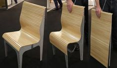 Eco-friendly design on a chair.
