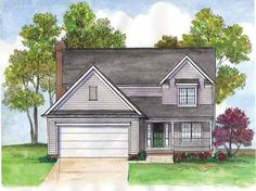 Traditional House Plan with 2032 Square Feet and 4 Bedrooms from Dream Home Source | House Plan Code DHSW68507