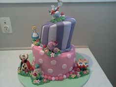 Mad hatters cake with figurines bought
