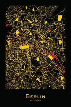 Berlin, Germany Map Print