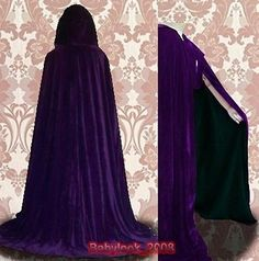 Purple-Cape-Lined-Black-Velvet-Cloak-Wedding-Wicca-SCA