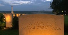 Candlelight service during WWI Centenary Commemoration at Thiepval Memorial Somme France July 1 2016