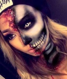 """Résultat de recherche d'images pour """"makeup halloween skull"""""""