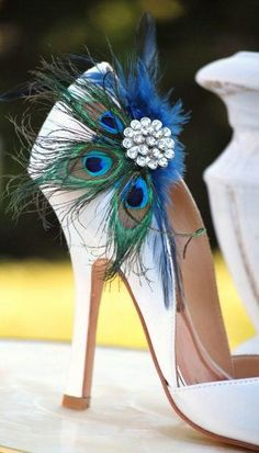Peacock wedding heel