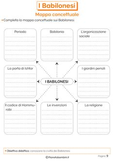 I Babilonesi: Schede Didattiche per la Scuola Primaria | PianetaBambini.it Virginia, Math Crafts, School Subjects, Study Skills, My Teacher, Worksheets, Activities For Kids, Bullet Journal, Coding