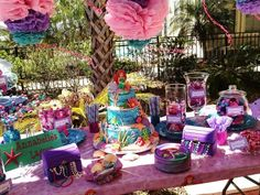 Under the Sea Birthday Party | Little Mermaid Birthday Party | Girl's Birthday Ideas | Pink, Purple, and Turquoise Candy Bar