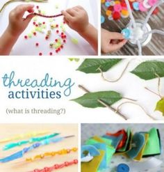 OT Activities of the Week: Simple Threading Activities for Young Kids - pinned by @PediaStaff – Please Visit ht.ly/63sNtfor all our pediatric therapy pins