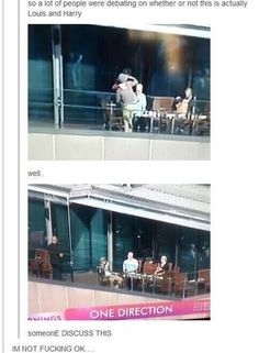 Louis and Harry kissing someone please discuss I'm not ok