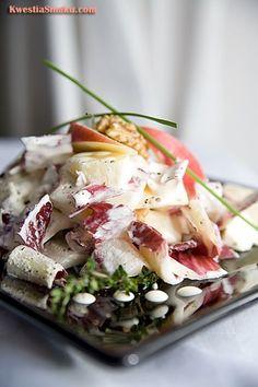 Chicory Salad with Pink Lady Chicory Salad, Vegan Vegetarian, Potato Salad, Pink Ladies, Salads, Potatoes, Ethnic Recipes, Food, Potato