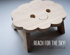Happy Cloud Step Stool Kitchenstool - Reach For The Sky - Wooden Chair Childrens…