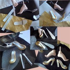 A way to make dolls shoes.