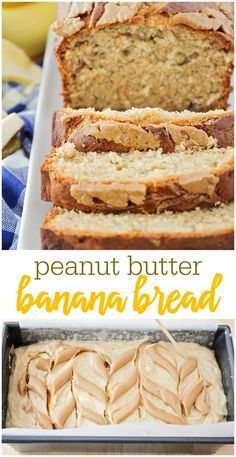 Banana Bread Easy and DELICIOUS Peanut Butter Banana Bread Recipe - the sweet and salty tastes are amazing!Easy and DELICIOUS Peanut Butter Banana Bread Recipe - the sweet and salty tastes are amazing! Peanut Butter Banana Bread, Easy Banana Bread, Peanut Butter Recipes, Peanut Butter Cakes, Yogurt Banana Bread, Banana Bread Brownies, Homemade Banana Bread, Banana Nut, Homemade Vanilla