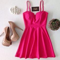 Vestido Peplum Bojo Pink