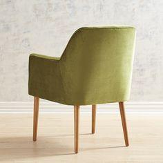 Markus Green Velvet Armchair