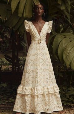 such a beautiful eyelet gown.
