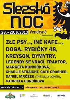 Plakát Slezská noc 2013 Gabriela Gunčíková | #guncikova @GabinaGuncikova