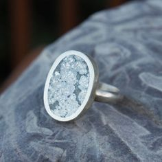Silver Ore with Calcite Ring