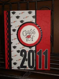 Another nice card layout...  Class of 2011 by megala3178 at Splitcoaststampers