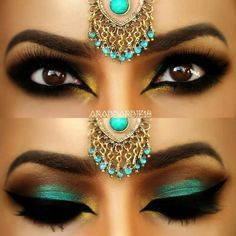 Indian bridal smokey eye makeup