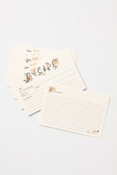 The prettiest recipe cards I've ever seen. $14 for a set of 12.