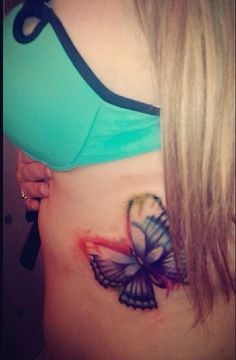 Ombre Butterfly Tattoo <3