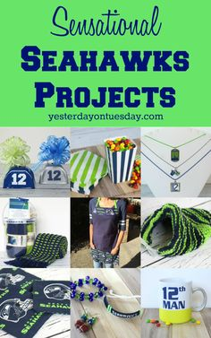 Seahawks Projects Sensational Seahawks Projects, great for any sports/football team!Sensational Seahawks Projects, great for any sports/football team! Seattle Seahawks, Seahawks Fans, Seahawks Football, Best Football Team, Sport Football, Sports Teams, Seahawks Gear, Football Parties, Football Birthday