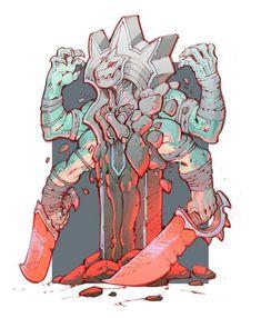 The Lantern Factory: Bad Statue, Bad! Monster Concept Art, Alien Concept Art, Monster Art, Game Character Design, Character Concept, Character Art, Game Design, Beast Creature, Character Illustration