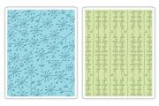Sizzix Textured Impressions Folders Embossing 2 Stk. - Flowers u. Bow Strings