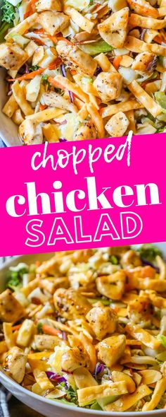 The Best Chopped Chinese Chicken Salad Recipe - Sweet Cs Designs - Chicken Recipes Chopped Cobb Salad, Mexican Chopped Salad, Italian Chopped Salad, Chopped Salad Recipes, Best Salad Recipes, Salad Dressing Recipes, Hawaiian Salad Dressing Recipe, Healthy Recipes, Chef Salad Recipes