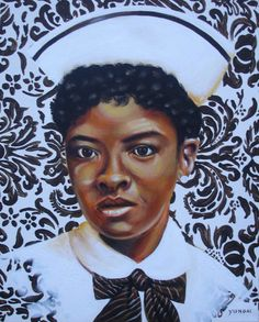 A portrait of Mary Eliza Mahoney,the first African American to study and work as a professionally trained nurse in the United States.
