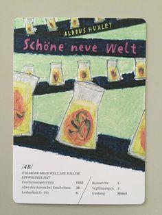 Literaturquartett von Julia Krusch, mit Graphitstift und Pastellkreiden illustriert, zu Literaturklassikern