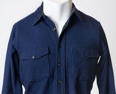 VTG 50s LL Bean Cursive Hunting Thick Wool Work Longsleeve Shirt Jacket Mens M