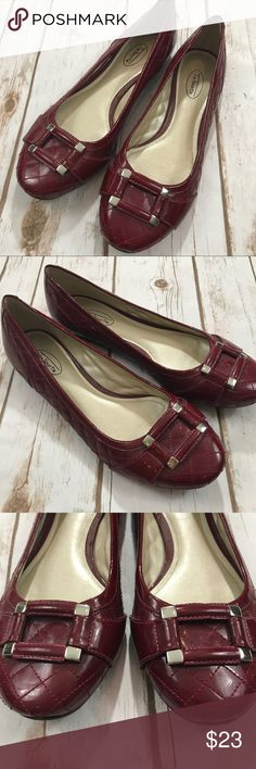 Talbots - Stunning Burgundy Buckle Flats, 9 1/2 Talbots - Stunning Burgundy Buckle Flats, 9 1/2. In like new condition, no issues to mention! Please be sure to check out all of my other items, same day or next business day shipping is guaranteed! Talbots Shoes Flats & Loafers