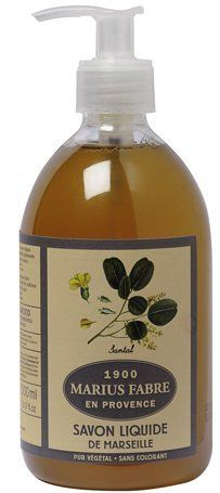Savon de Marseille Liquid Soap Sandalwood 16.9 Fl Oz Marius Fabre by Marius Fabre. $22.90. Pure vegetable. Without coloring, nor preservative. Not tested on animals.. 16.9 fl oz. Wondrous Sandalwood scent.. Made in France by Marius Fabre. Soap manufacturer since 1902.. Enjoy the Sandalwood fragrance of this 100 % natural soap from the south of France.  Produced using 100% vegetable oils, the Marius Fabre liquid soap is cooked in a cauldron in accordance with the tra...