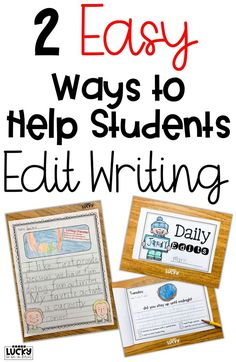 Two Easy Ways to Help Students Edit Writing | Check out these two super-duper simple ways to make sure your students are using capitals, punctuation and the very best writing! | Lucky to Be in First