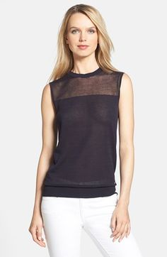 Tory Burch 'Harriet' Knit Shell available at #Nordstrom