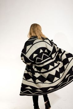 unlikely that i will ever get to own such a random coat, but love the giant-ness and pattern