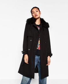 TRENCH COAT WITH FAUX FUR COLLAR-View all-OUTERWEAR-WOMAN   ZARA Germany