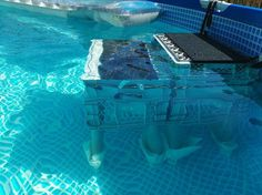 2016 - DIY Swimming Pool Dog ramp, dog stairs, Pooltreppe, Pool pallets