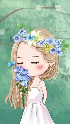 Image about girl in chibi by Sunanthicha Ngamsong Girl Iphone Wallpaper, Cute Girl Wallpaper, Kawaii Wallpaper, Cartoon Girl Images, Girl Cartoon, Cute Cartoon, Anime Chibi, Anime Kunst, Anime Art