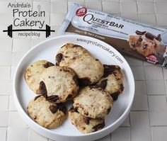 Prot: 21 g, Carbs: 21 g, Fat: 8 g, Cal: 240 -- Bake your Quest bar into Quest Bar Cookies! Quest Bars, Healthy Recipes, Healthy Desserts, Low Carb Recipes, Cooking Recipes, Healthy Meals, Healthy Food, Protein Cookies, Protein Snacks