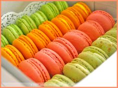 Rows of Macarons II by bossacafez, via Flickr