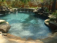 Magnolia custom pool builders, CayTech Pools, specializes in natural freeform pools and all outdoor living. Natural Backyard Pools, Natural Swimming Pools, Indoor Swimming Pools, Natural Pools, Backyard Pool Designs, Swimming Pool Designs, Pool Landscaping, Pool Backyard, Diy Pool