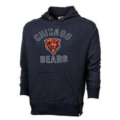 '47 Brand Chicago Bears Striker Pullover Hoodie - Navy Blue