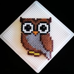 Owl perler beads by maliapix